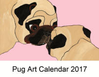 Click here for a close up of Pug Art 2017