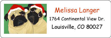 Holiday Address Label - Pug Design HA67