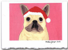 Holiday Card - French Bulldog
