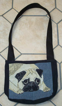 Fawn Pug side of Purse