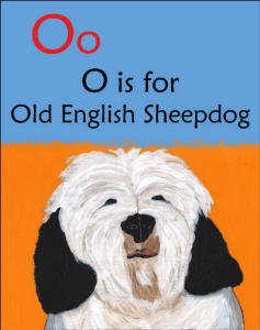Page Detail - O is for Old English Sheepdog