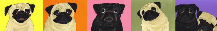 Pug and Dog Art by Melissa Langer