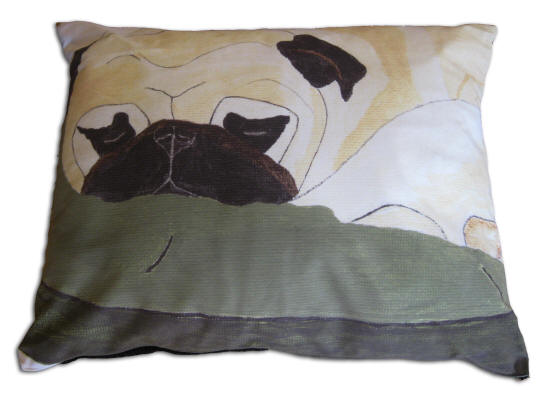 Shown: 24 x 30 Dog Bed - Pug Design A14