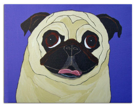 Canvas Transfer - Pug Design A64