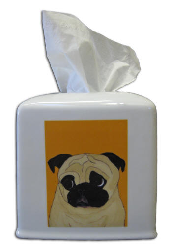 Tissue Holder - Pug Design A63
