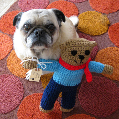 Emmitt and his Bear - Nov. 2008